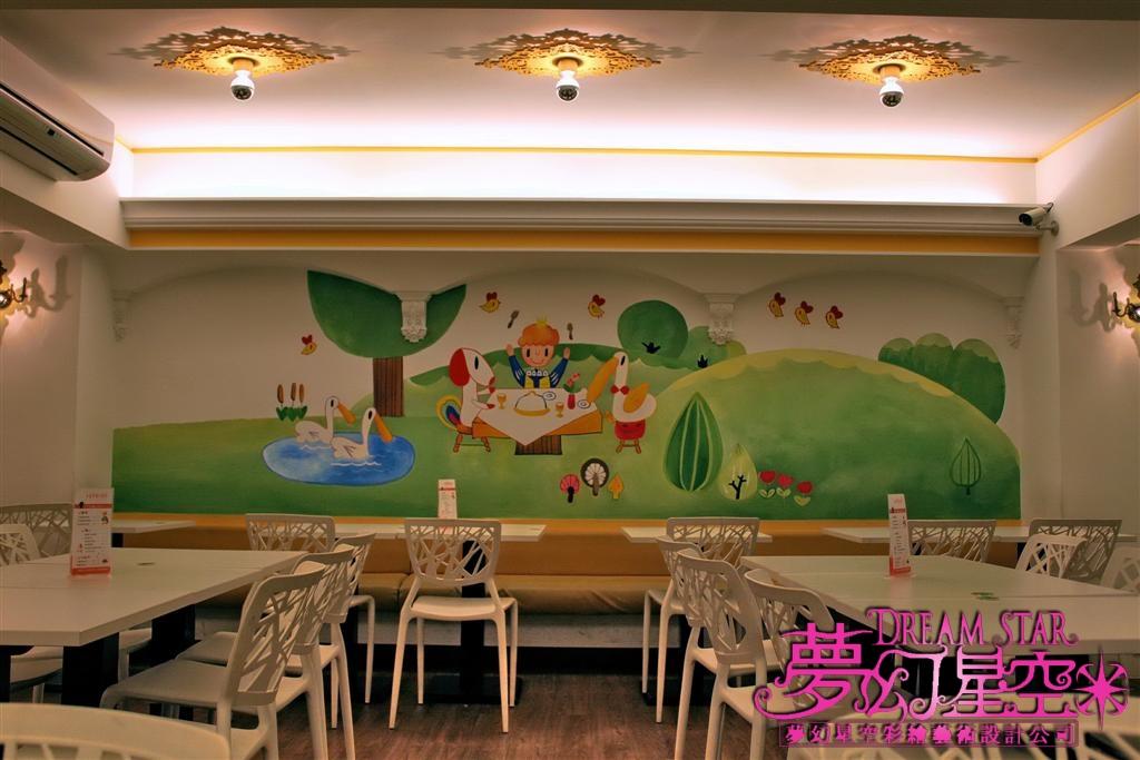台中市一中街小王子童话厨房餐厅-墙壁彩绘