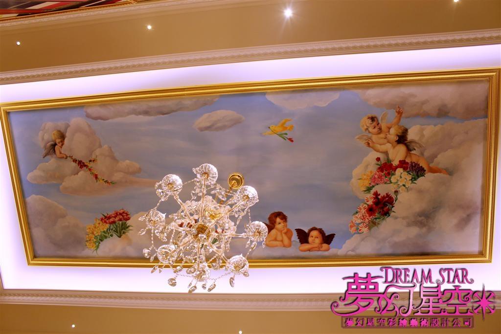 欧式小天使天顶壁画