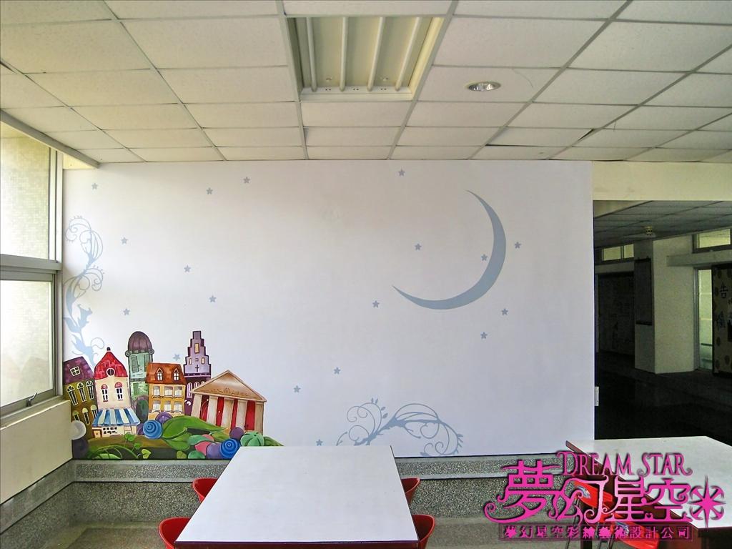 教室墙的手绘图纸